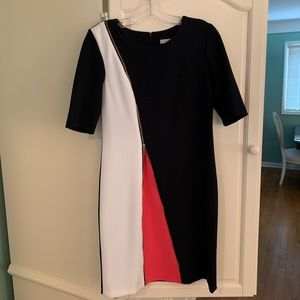 Dress Barn Dress - Navy & White
